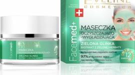Eveline Cosmetics Maseczka Oczyszczająco - Wygładzająca Zielona Glinka Facemed+ LIFESTYLE, Uroda - Maseczki z glinki dodają skórze witalności, eliminują toksyny, pielęgnują i wygładzają skórę, ograniczają pękanie naczyń krwionośnych. Glinka działa przeciwbakteryjnie, przeciwzapalnie i tworzy naturalną ochronę przed promieniami UVA i UVB.