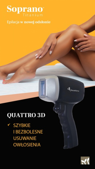 SOPRANO TITANIUM - przełom w depilacji laserowej LIFESTYLE, Uroda - Kobiety marzą o gładkim ciele bez konieczności ciągłej depilacji. Wystarczy zastosować bezbolesną i bezpieczną depilację laserową najnowocześniejszą maszyną Soprano Titanium, którą - jako jedna z nielicznych w Polsce - posiada klinika kosmetyczna Open Clinic w Warszawie.